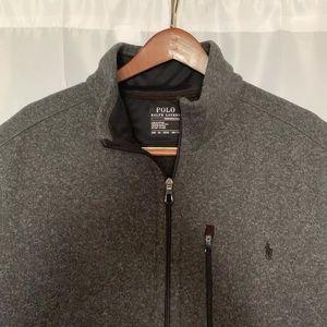 POLO RL Men's Big&Tall (3XB) Fleece Mockneck Vest